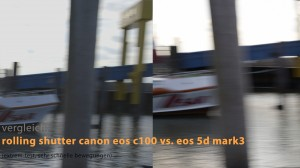 rolling shutter c100 vs. 5d mk3