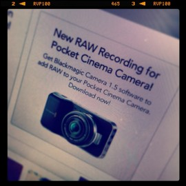 blackmagic pocket cinema camera erhält raw