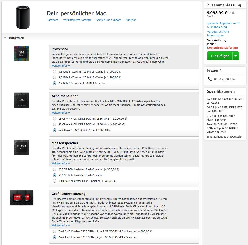 macpro 2013 im apple online store